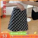 skirt Summer 2021 S. M, l, XL, 2XL, 3XL, 4XL, please consult customer service for details Black, white Short skirt Versatile High waist A-line skirt letter Type A other zipper