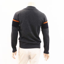 T-shirt / sweater Others Fashion City Medium grey 170,175,180 routine Cardigan Crew neck Long sleeves VYXV3372 autumn Straight cylinder 2019 Business Casual stripe