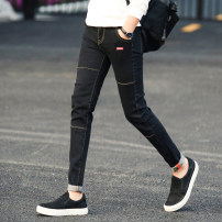 Jeans Youth fashion GXG JORGE 28,29,30,31,32,33,34,27 020 black, 020 gray, 020 sapphire, a822 black, a822 gray, a822 blue routine Micro bomb Regular denim YDL020# Ninth pants Travel? Cotton 77% polyester 22% polyurethane elastic fiber (spandex) 1% autumn teenagers Medium low back Slim feet tide 2020