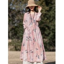 Other outdoor clothing Other / other female See description M,L,XL Pink flowers, blue flowers 501-1000 yuan hemp