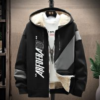 Jacket Other / other Youth fashion M,L,XL,2XL,3XL,M/165,L/170,XL/175,2XL/180,3XL/185 Plush and thicken easy motion autumn DXX-A516 Polyester 95% polyurethane elastic fiber (spandex) 5% Long sleeves Wear out Hood tide teenagers routine Zipper placket Rib hem No iron treatment Closing sleeve other