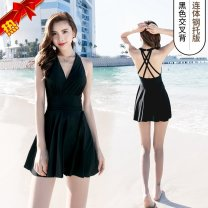 one piece  Other brands M (85-90kg) neckline underwear has no trace design, l (90-105kg) pleated skirt is slim and slim, XL (105-115kg) simple back outline, 2XL (115-130kg) preferred fabric does not fade, 3XL (130-145kg) has quality in 90 days, 4XL (above 145kg) Skirt one piece Steel strap breast pad