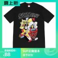 T-shirt Black, white S,M,L,XL Summer 2021 Short sleeve Crew neck easy Regular routine street cotton 96% and above science fiction Cartoon animation Other / other printing neutral
