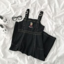 Dress Spring 2021 black S,M,L Middle-skirt Sleeveless commute High waist 18-24 years old Type A ONLY PERTECT Korean version 91% (inclusive) - 95% (inclusive) Denim