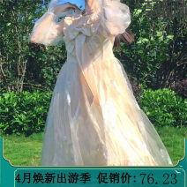 Dress Spring 2021 Picture color Average size Middle-skirt singleton  Long sleeves Sweet Lotus leaf collar Loose waist other Socket Princess Dress routine Others Lotus leaf, bow, Auricularia auricula 51% (inclusive) - 70% (inclusive) Chiffon cotton Lolita
