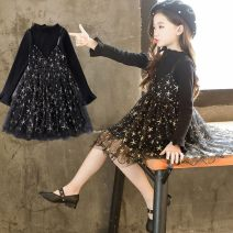 Dress Black (spring and autumn star skirt), pink (spring and autumn star skirt), big red (spring and autumn star skirt), black (plush, full body plush) female Other / other 90cm,100cm,110cm,120cm,130cm,140cm Other 100% Broken flowers other other 3 months