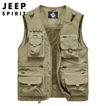 Vest / vest Fashion City Jeep / Jeep M,L,XL,2XL,3XL,4XL,5XL,6XL 0163 khaki, 0163 dark blue, 0163 gray, 0163 jujube, 0163 military color, 2601 military color, 2601 Khaki Travel? easy Vest thin autumn No collar 2020 Military brigade of tooling Solid color zipper Cloth hem Polyester 100% nothing
