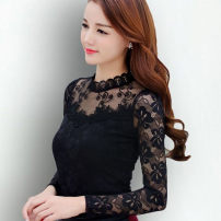 Lace / Chiffon Winter of 2019 White, black, red, purple, pink - Ji, black [thickened] - py, purple [thickened] - ty, white [thickened] - Zu, pink [thickened] - EU, red [thickened] - ZB S,M,L,XL,2XL,3XL,4XL,5XL Long sleeves other Socket singleton  Self cultivation stand collar Solid color other