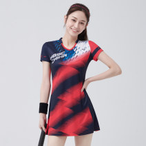 Badminton wear female Peggy cool Football top 244 Red and blue (with safety pants) S,M,L,XL,XXL