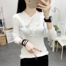 Sweater other V-neck Other / other 990 white, 990 black, 990 khaki, 990 yellow, 990 lotus root pink Socket XXS