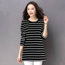 T-shirt Long Sleeve Striped T-shirt, Short Sleeve Striped T-shirt Other / other S,M,L,XL,2XL,3XL,4XL female Crew neck Artificial colored cotton other 3 months