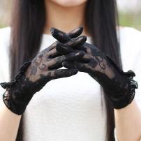 glove Lace female Average size Finger gloves friend