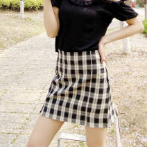 skirt Spring 2021 XS,S,M,L,XL Short skirt commute High waist A-line skirt lattice 18-24 years old 31% (inclusive) - 50% (inclusive) other other
