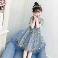 Dress Grey, pink, apricot female Other / other 100cm for 110 yards, 110cm for 120 yards, 120cm for 130 yards, 130cm for 140 yards, 140cm for 150 yards, 80cm for 90 yards and 90cm for 100 yards Other 100% Solid color other A-line skirt Three months, 12 months