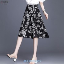 Casual pants S,M,L,XL,2XL,3XL,4XL Cropped Trousers Wide leg pants High waist Other / other printing and dyeing