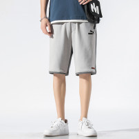 Casual pants Joey puma Youth fashion M,L,XL,2XL,3XL,4XL routine Shorts (up to knee) Other leisure Straight cylinder Micro bomb S211 summer teenagers Military brigade of tooling 2021 Medium low back Straight cylinder Overalls Arrest line No iron treatment Solid color Khaki cotton cotton Fashion brand