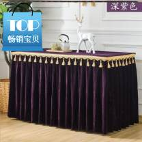 tablecloth 60 * 180cm, 80 * 80cm, 120 * W 40 * h 75cm, 120 * W 60 * h 75cm, 180 * W 60 * h 75cm, 240 * W 40 * h 75cm Plush Solid color Other / other S80546