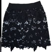 skirt Autumn of 2019 S. M, l, XL, 2XL, XXXL, one size, s, large, XXXXL White, T15 black big flower, P32 black yarn lace, u73 white yarn lace, S11 color NT Short skirt Versatile High waist skirt Type A A70627 Lace Other / other nylon Lace
