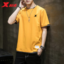 Sports T-shirt XTEP M is suitable for 90-110 Jin, l is suitable for 115-130 Jin, XL is suitable for 130-145 Jin, 2XL is suitable for 145-160 Jin, 3XL is suitable for 160-175 Jin, 4XL is suitable for 175-190 Jin Short sleeve male Crew neck TBU Self cultivation Summer 2021 Brand logo Sports & Leisure