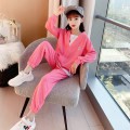 suit Other / other Pink, gray 110cm,120cm,130cm,140cm,150cm,160cm,170cm neutral spring and autumn Original design Long sleeve + pants 2 pieces routine There are models in the real shooting Socket nothing Solid color other children Giving presents at school Class B Chinese Mainland Shanghai