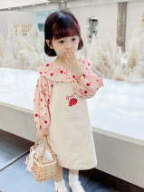 Dress Beige (larger size, choose by height - 5) female Down town 90cm,100cm,110cm,120cm,130cm,140cm Other 100% spring and autumn Korean version Strapless skirt other cotton Strapless skirt 2F78 2 years old, 3 years old, 4 years old, 5 years old, 6 years old, 7 years old, 8 years old
