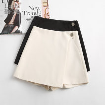 Casual pants Black, apricot, 88005- 26 / S 1 foot 9,27 / M 2 feet, 28 / L 2 foot 1,29 / XL 2 foot 2,30 / 2XL 2 foot 3,31 / 3XL 2 foot 4 Summer 2021 shorts Wide leg pants High waist Versatile routine 25-29 years old L029161 Ocnltiy other