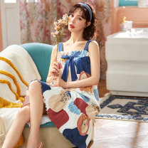 Nightdress 160(M) 165(L) 170(XL) 175(XXL) Cartoon camisole Leisure home Middle-skirt summer Cartoon animation youth cotton printing More than 95% pure cotton 200g and below Summer 2021 Cotton 100% Pure e-commerce (online only) Cotton 100%