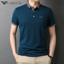 T-shirt Fashion City Dark blue, gray, black, white, light green, khaki thin 165/80A,170/84A,175/88A,180/92A,185/96A,190/100A Chiamania Short sleeve Lapel easy daily summer middle age routine Business Casual Cotton wool 2021 Solid color Embroidered logo cotton 3D effect No iron treatment More than 95%
