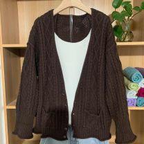 Dress Other Brown, dark orange Average size Long sleeves Solid color