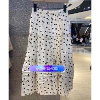 skirt 10513540 other Summer 2021 Medium length skirt Natural waist A-line skirt cotton S,M,L,XL Off white