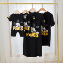 Parent child fashion White, black A family of three Female, male, neutral Other / other summer leisure time Thin money Cartoon animation Finished T-shirt cotton L,M,S,XL,XXL,XXXL X0681 Cotton 95% other 5% Class B L,XXL Chinese Mainland