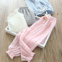 trousers Other / other female 7,9,11,13,15 White, gray, blue, pink summer trousers Korean version Casual pants Don't open the crotch Casual pants 2 years old, 3 years old, 4 years old, 5 years old, 6 years old