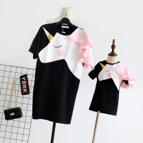Parent child fashion Women's dress female Other / other summer Korean version Thin money L,M,S 12 months, 18 months, 2 years old, 3 years old, 4 years old, 5 years old, 6 years old, 7 years old, 8 years old