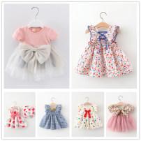Dress female Other / other 73cm,80cm,90cm,100cm,110cm Other 100% summer Korean version Skirt / vest Broken flowers cotton A-line skirt 3 months, 12 months, 6 months, 9 months, 18 months, 2 years old, 3 years old, 4 years old
