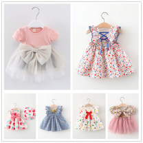 Dress female Other / other 73cm,80cm,90cm,100cm,110cm Other 100% summer Korean version Skirt / vest Broken flowers cotton A-line skirt 3 months, 12 months, 6 months, 9 months, 18 months, 2 years old, 3 years old, 4 years old