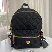 Backpack Nylon  Other / other brand new in zipper leisure time Double root European and American fashion soft youth no Soft handle Solid color Yes female Water splashing prevention nylon yes 10 inches
