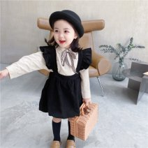 Dress Suit [embroidered bow shirt + flying sleeve strap] female 80cm,90cm,100cm,110cm,120cm,130cm Other 100% spring and autumn Korean version Strapless skirt Solid color other Strapless skirt Fly sleeve flower bud skirt_ kUkjX_ BQSHe_ LCK8g Class B Chinese Mainland Zhejiang Province Huzhou City