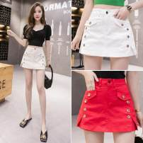 skirt Summer 2020 Short skirt High waist commute 25-29 years old Other / other LK193-7929 S,M,L,XL,2XL Black, red, apricot, white