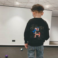Sweater / sweater Other / other White, black male spring and autumn nothing Korean version Socket routine There are models in the real shooting cotton Cartoon animation Cotton 95% polyurethane elastic fiber (spandex) 5% S2844 Cotton liner