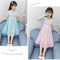 Tang costume Other 100% female summer Other / other Thin money There are models in the real shooting man-made fiber Class B Solid color SHLGX981089 Cotton liner 12 years old Chinese Mainland Zhejiang Province Pink, lake blue, dark blue, pink, lotus root, red, green, lake blue, pink