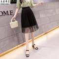 skirt Summer of 2019 S L XXL black Middle-skirt grace Natural waist Fairy Dress Solid color Type A 18-24 years old YP19B159 91% (inclusive) - 95% (inclusive) other Clothing decoration polyester fiber Pleated gauze Polyester 95% polyurethane elastic fiber (spandex) 5% Pure e-commerce (online only)