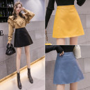 skirt Autumn of 2019 XS S M L XL XXL XXXL Black blue yellow Short skirt Versatile High waist skirt Solid color Type A 18-24 years old YP19B170 81% (inclusive) - 90% (inclusive) other Clothing decoration Viscose Viscose (viscose) 84.5% polyester 15.5% Pure e-commerce (online only)