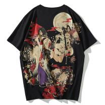 T-shirt Youth fashion Black, white routine M/170,L/175,XL/180,XXL/185,3XL/190 Wild sun Short sleeve Crew neck standard daily summer routine tide 2020 Cartoon animation Fashion brand