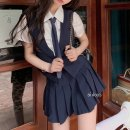 Cosplay women's wear jacket goods in stock Over 14 years old Vest + tie, skirt comic S, M Other / other