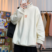 T-shirt Youth fashion White, black, coffee, dark gray, apricot, pink, orange Plush and thicken M. L, XL, 2XL, 3XL, 4XL, 5XL, s small, XS plus small Others Long sleeves High collar easy Other leisure winter Polyester 100% Large size tide other Solid color No iron treatment