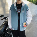 Jacket Other / other Youth fashion Blue, black, yellow M. L, XL, 2XL, 3XL, s small, XS plus small routine easy Other leisure spring Long sleeves Wear out Hood tide teenagers routine Zipper placket 2021 Rib hem No iron treatment Closing sleeve Geometric pattern polyester fiber Assembly polyester fiber