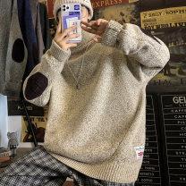 T-shirt / sweater Others Youth fashion Dark grey, black, khaki, dark blue, coffee M. L, XL, 2XL, 3XL, s small, XS plus small thickening Socket Reversible collar Long sleeves winter easy 2020 leisure time tide teenagers routine Geometric pattern No iron treatment Coarse wool (8, 6) man-made fiber