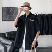 shirt Youth fashion Others M. L, XL, 2XL, s small, XS plus small White, black routine Pointed collar (regular) Short sleeve easy Other leisure summer