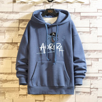 Sweater Youth fashion Others Light gray, dark gray, white, blue, black S. M, l, XL, 2XL, 3XL, XS plus small, 4XL, 5XL other Socket Plush Hood winter easy leisure time Large size like a breath of fresh air routine Polyester 67.4% cotton 32.6% printing Kangaroo pocket