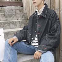 Jacket Other / other Youth fashion Black, blue M. L, XL, 2XL, 3XL, s small, XS plus small routine standard Other leisure spring Cotton 80% triacetate 20% Long sleeves Wear out square neck Hip hop teenagers routine Single breasted 2021 other washing Solid color Denim More than two bags) other